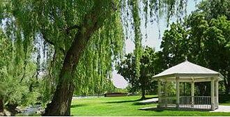 Murray, Utah - Murray City Park Gazebo and Little Cottonwood Creek