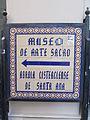 Museo de Arte Sacro sign.JPG