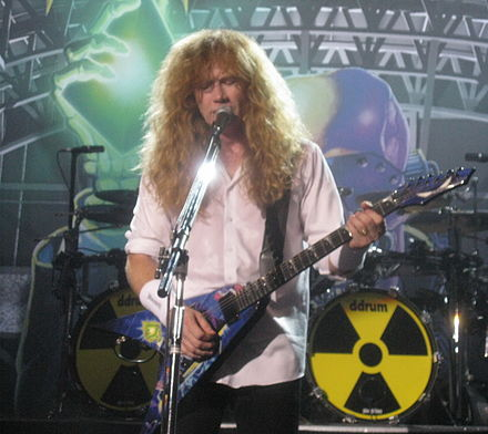 Dave Mustaine in Moscow during the album's 20th anniversary tour. Mustaine at Moscow.jpg
