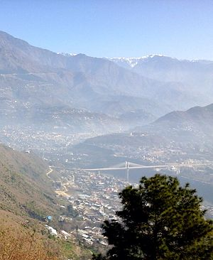 Muzaffarabad - Muzaffarabad has largely been rebuilt since the 2005 earthquake.