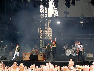 My Chemical Romance - My Chemical Romance performing in 2011; from left to right: Frank Iero, Mikey Way, Gerard Way, Michael Pedicone, Ray Toro