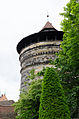 Nürnberg, Stadtmauer, Turm Grünes K, 001.jpg
