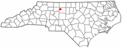 Location of Oak Ridge, North Carolina