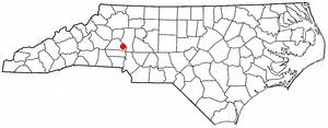 Sherrills Ford, North Carolina - Image: NC Map doton Sherrills Ford