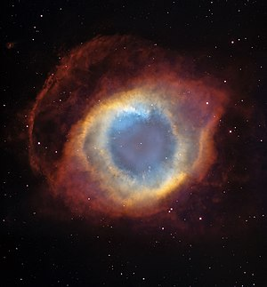 Future of Earth - The Helix nebula, a planetary nebula similar to what the Sun will produce in 8 billion years.
