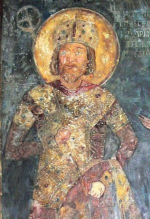 Konstantin Tih - Portrait of Konstantin Asen of the frescoes in the Boyana Church