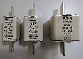 IEC 60269 -  NH fuses of sizes 1, 2 and 3, rated 250A, 400A and 630A