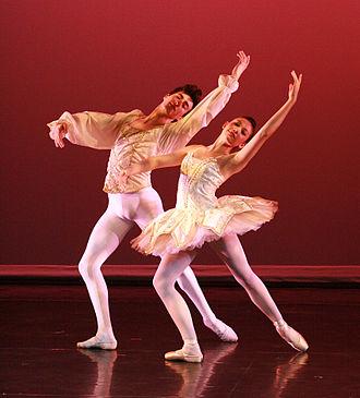 Pas de deux - Dancers performing Paquita grand pas de deux entrée