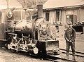Narrow gauge steam locomotive of the Lucaci mine, ca 1900.jpg