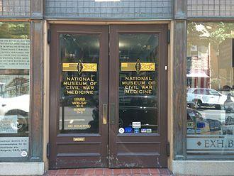 National Museum of Civil War Medicine - Front doors of the museum