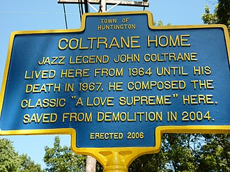 John Coltrane Home - Historic marker in front of the house