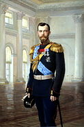 Nicholas II of Russia painted by Earnest Lipgart