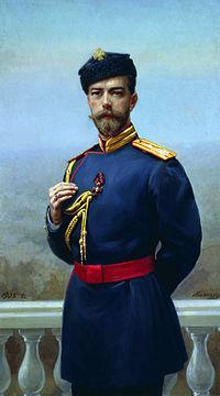 Николай II с орденом Св. Владимира 4-й степени. Худ. Г.М. Манизер, 1905
