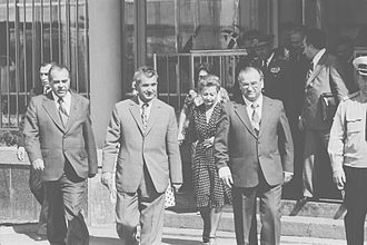 Ivan Bodiul - Bodiul with Nicolae Ceausescu in 1976.