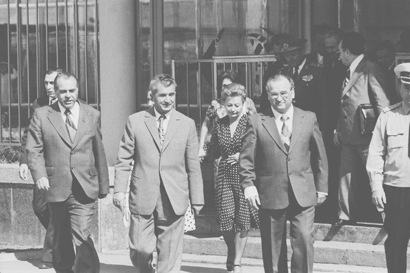 Nicolae Ceausescu si Ivan Bodiul