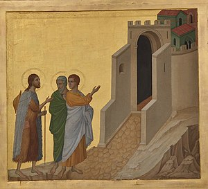 Nicolas Lokhoff. Copy of the picture. The Road to Emmaus by Duccio di Buoninsegna