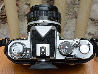 Nikon FM3A - Nikon FM3A SLR, top view