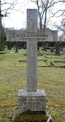 Nils Christian Egede Hertzberg, gravminne på Vår Frelsers gravlund, Oslo.JPG