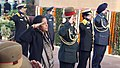 Nirmala Sitharaman, the Chief of Army Staff, General Bipin Rawat, the Chief of the Air Staff, Air Chief Marshal B.S. Dhanoa and the Vice Chief of Naval Staff, Vice Admiral Ajit Kumar P paying homage to the martyrs.jpg