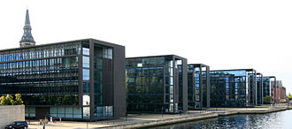Nordea - The Danish headquarters of Nordea is located in Christianshavn, Copenhagen.