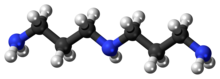 Ball-and-stick model of the norspermidine molecule
