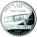 North Carolina quarter, reverse side, 2001.png