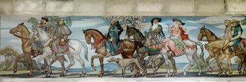 North Reading Room, east wall. Detail of mural by Ezra Winter illustrating the characters in the Canterbury Tales by Geoffrey Chaucer. Library of Congress John Adams Building, Washington, D.C. LCCN2007687191.tif