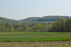 Fields and hills along Pennsylvania Route 56