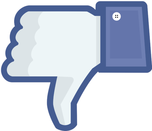 Not facebook not like thumbs down