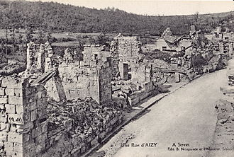 Aizy-Jouy - A street in Aizy in 1920