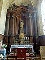 Noyon (60), cathédrale Notre-Dame, chapelle du Sacré-Cœur, autel et retable.jpg