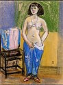 Nude with Blue Clothing by Fujishima Takeji (Kagoshima City Museum of Art).jpg