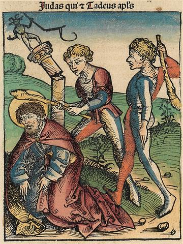 Мученичество апостола Фаддея (Нюрнбергская хроника, 1493 год)