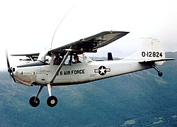 O-1A Bird Dog in flight over Vietnam