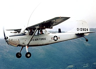 Operation Barrel Roll - The Cessna O-1 Bird Dog FAC aircraft was unmarked when flown by Raven Forward Air Controllers.