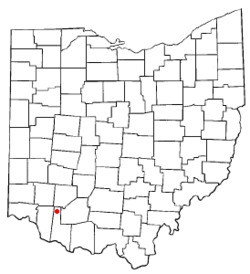 Location of Fayetteville, Ohio