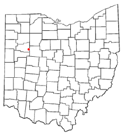 Location of Harrod, Ohio