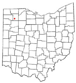 Location of Holgate, Ohio