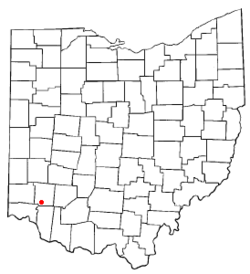 Location of Maineville, Ohio