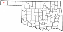 Location of Boise City, Oklahoma