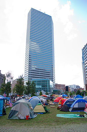 Occupy Boston - Image: Occupy Boston backdrop