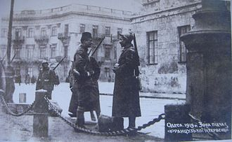 Southern Russia Intervention - Image: Odessa French intervention 1919