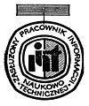 """Odznaka honorowa """"Zasłużony Pracownik Informacji Naukowo-Technicznej"""".jpg"""