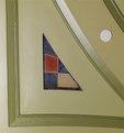 "Oil painting ""Nautical Signal Flag"" located on first floor rotunda ceiling, U.S. Custom House, Philadelphia, Pennsylvania LCCN2010720055.tif"