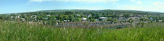 Okotoks - A view of Okotoks in 2007; Overlooking downtown facing the south.