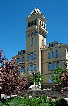 The Old Main building at Utah State University.