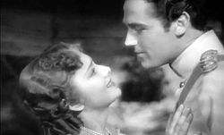 Olivia de Havilland and Errol Flynn in The Charge of the Light Brigade trailer.JPG