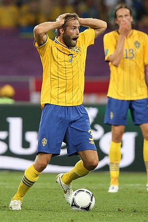 Olof Mellberg - Mellberg playing for Sweden at UEFA Euro 2012.