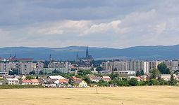 Pohled na Olomouc s dómem sv. Václava od jihozápadu