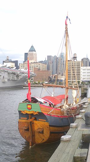 Adriaen Block - Replica of the Onrust. Docked in Manhattan.